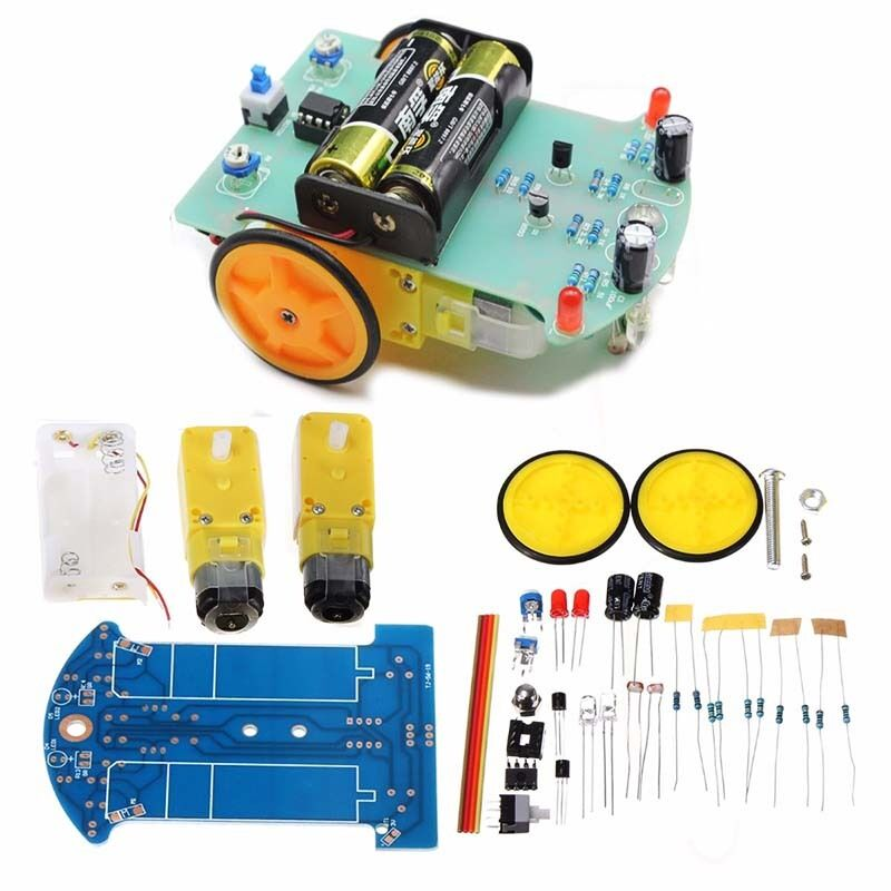 Smart Tracking Robot Car DIY Kits With Reduction Motor