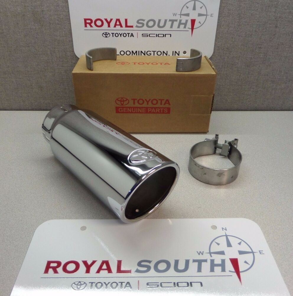 toyota tundra 2012 2016 exhaust tip genuine accessory ebay. Black Bedroom Furniture Sets. Home Design Ideas