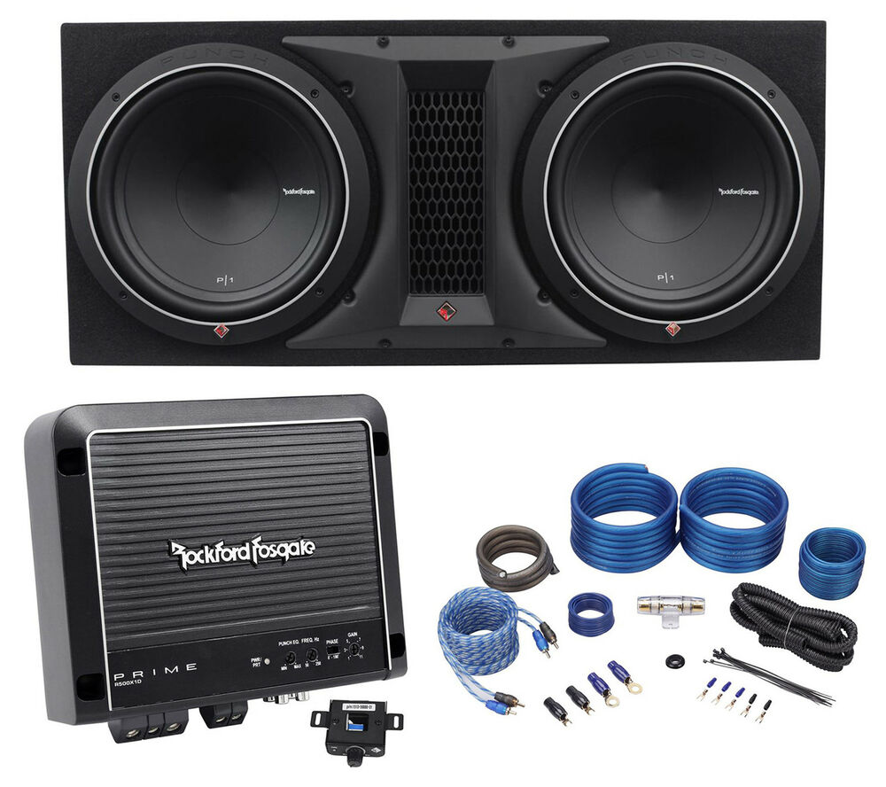 rockford fosgate p1 2x12 dual 12 1000w subwoofers. Black Bedroom Furniture Sets. Home Design Ideas