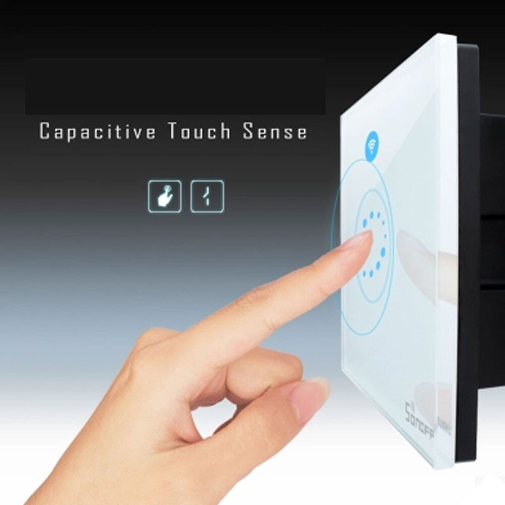 Sonoff Wifi Wireless Light Switch Touch Glass Panel Touch