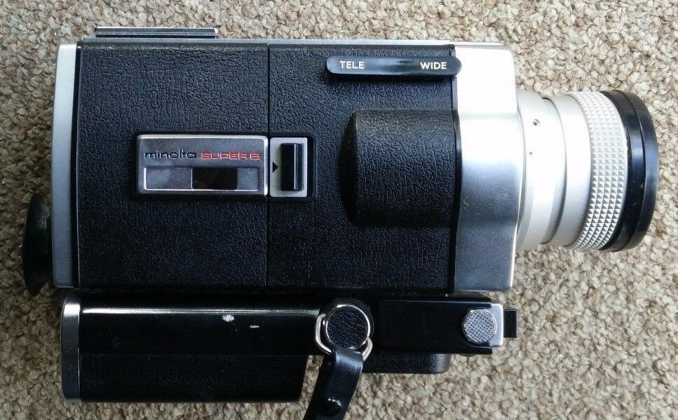 vintage minolta autopak 8 d6 super 8 8mm video camera ebay. Black Bedroom Furniture Sets. Home Design Ideas