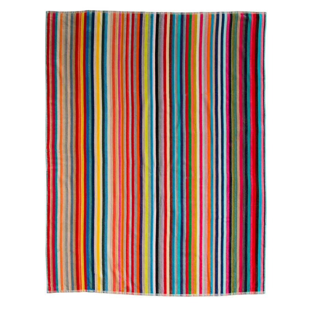 Large Beach Blankets: Oversized Candy-Stripe Beach Towel (60 Inches X 70 Inches