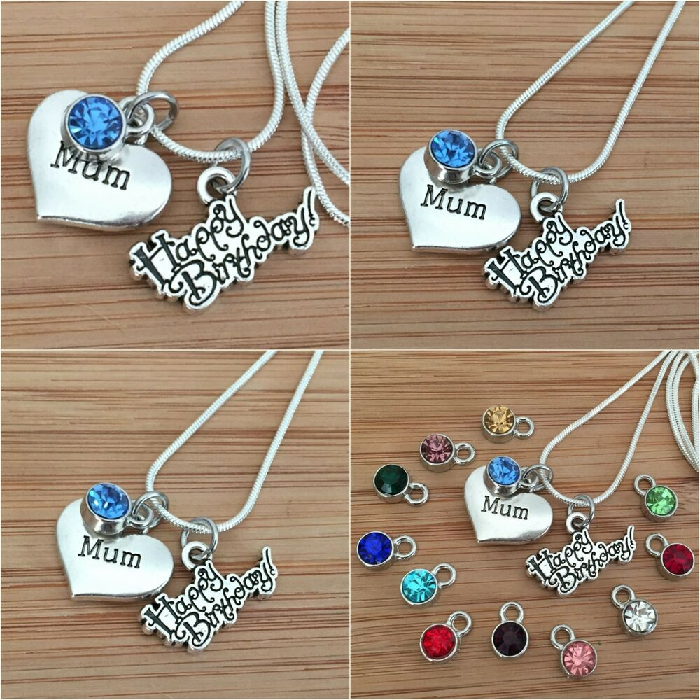 Details About Personalised Happy Birthday Gift Necklace For Mum Sister Daughter Cousin Nan