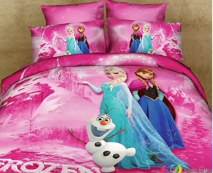Disney Movie Frozen Queen Size Cotton Quilt Duvet Cover