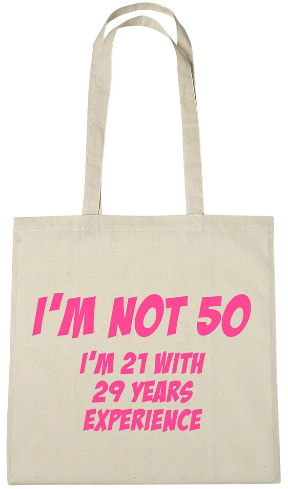 Im Not 50 Bag 50th Birthday Gifts Presents For Year Old Women Wife Sister