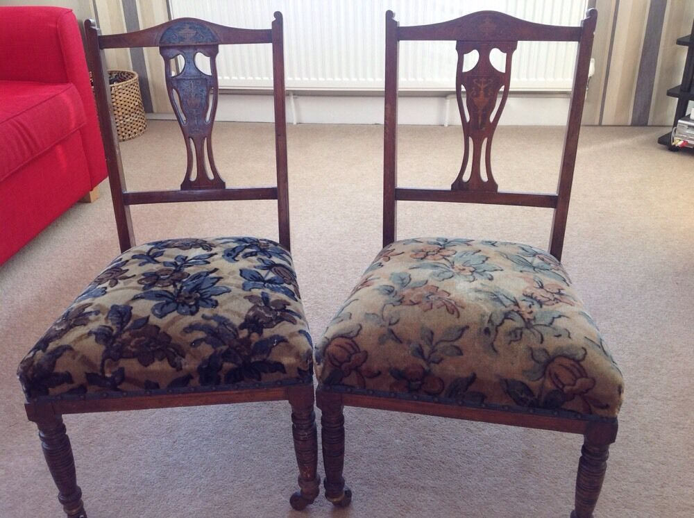 antique victorian oak nursing bedroom chair small ebay