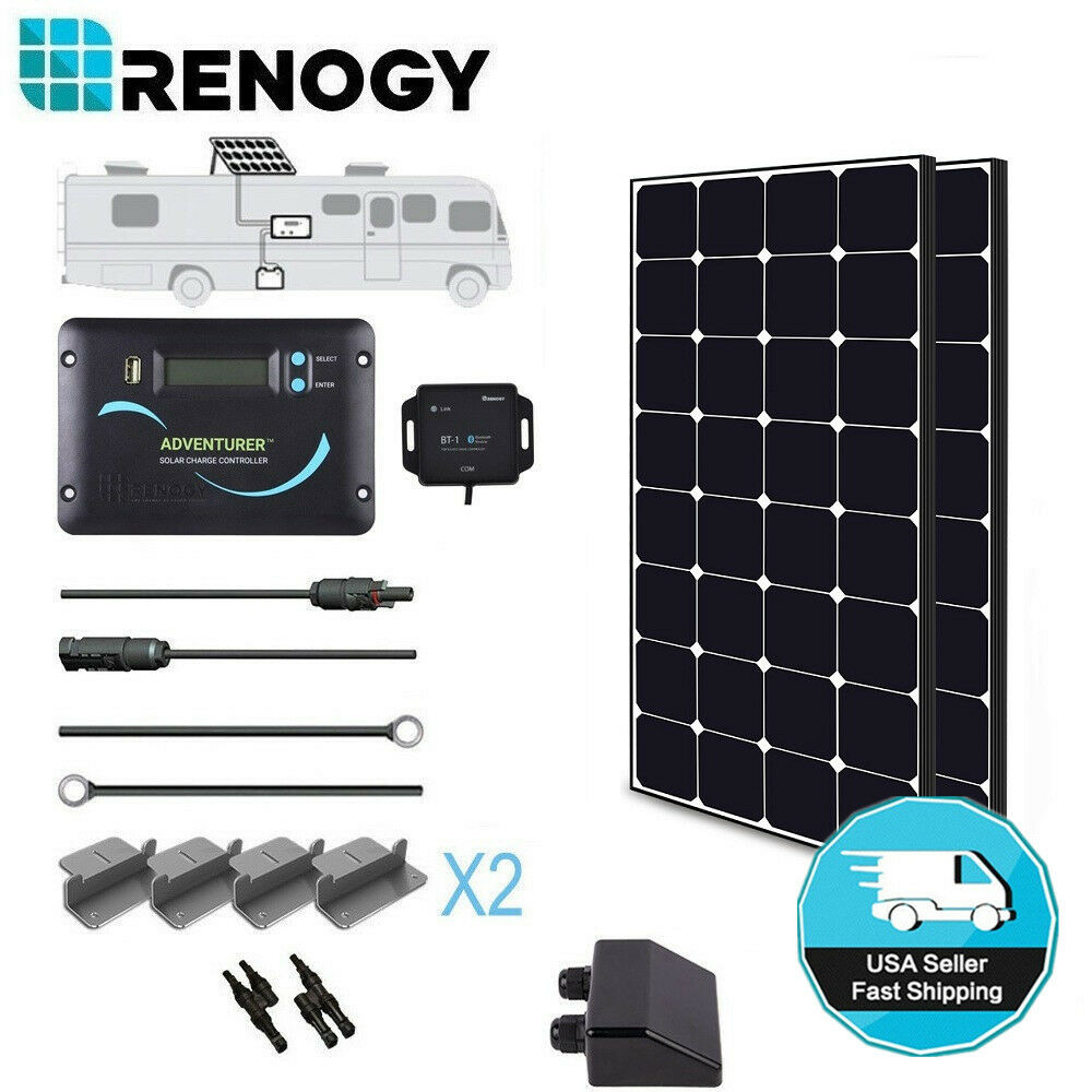 Renogy Solar Panel 200 Watts Eclipse Rv Kit Off Grid 12v