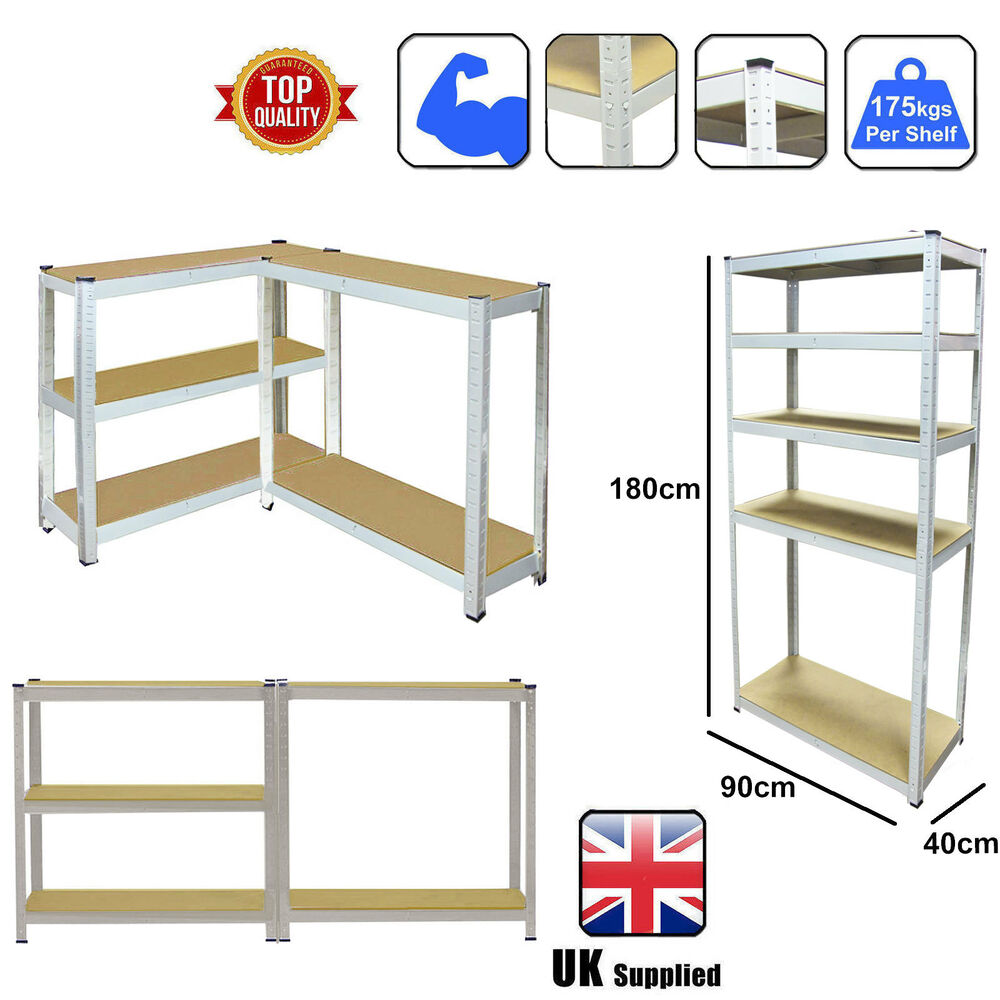 5 tier heavy duty boltless metal shelving shelves storage. Black Bedroom Furniture Sets. Home Design Ideas