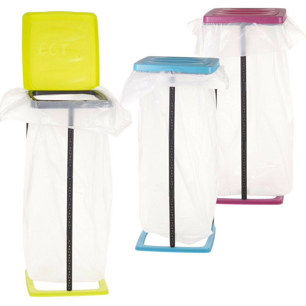 60l Collapsible Bin Bag Stand Plastic Garbage Waste