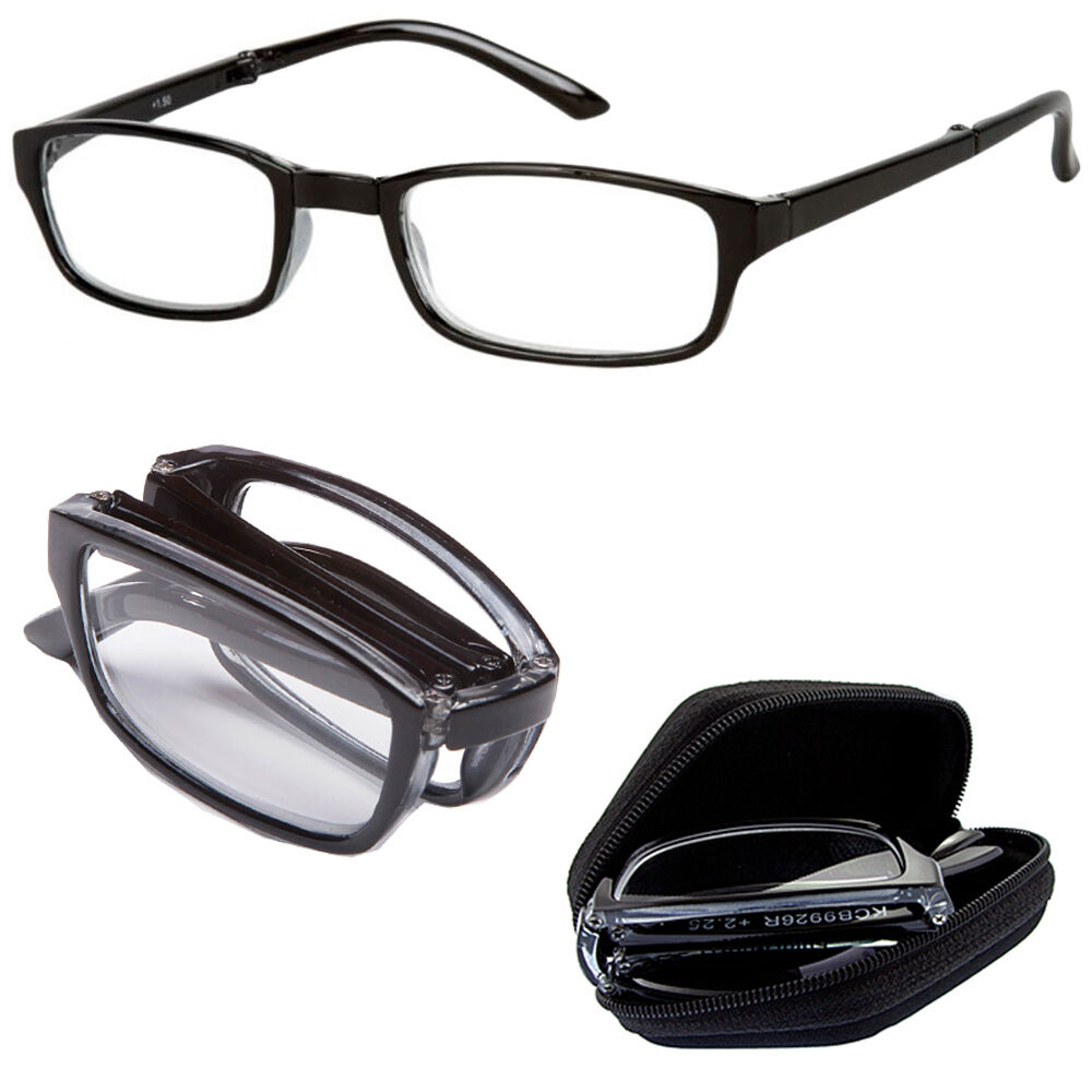 folding reading glasses with carry foldable eyeglass
