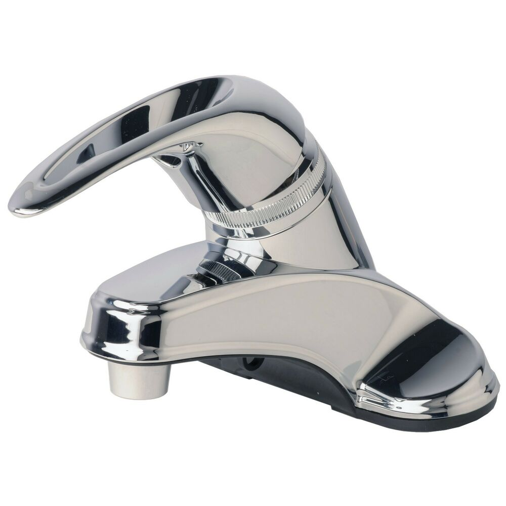 "RV/Mobile Home Bathroom Vanity Sink 4"" Centerset Lavatory Faucet Chrome Finish"