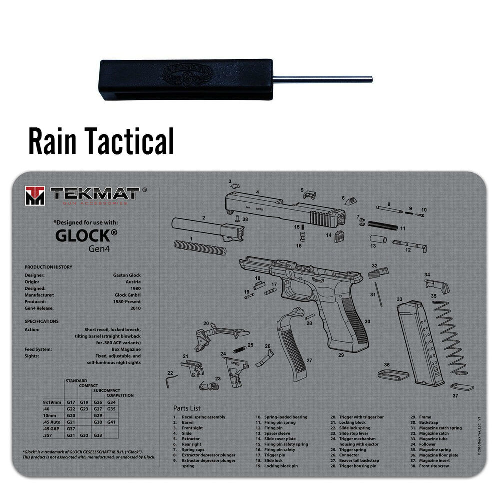 For Glock Armorers Gun Cleaning Bench Mat Amp Ghost Tool