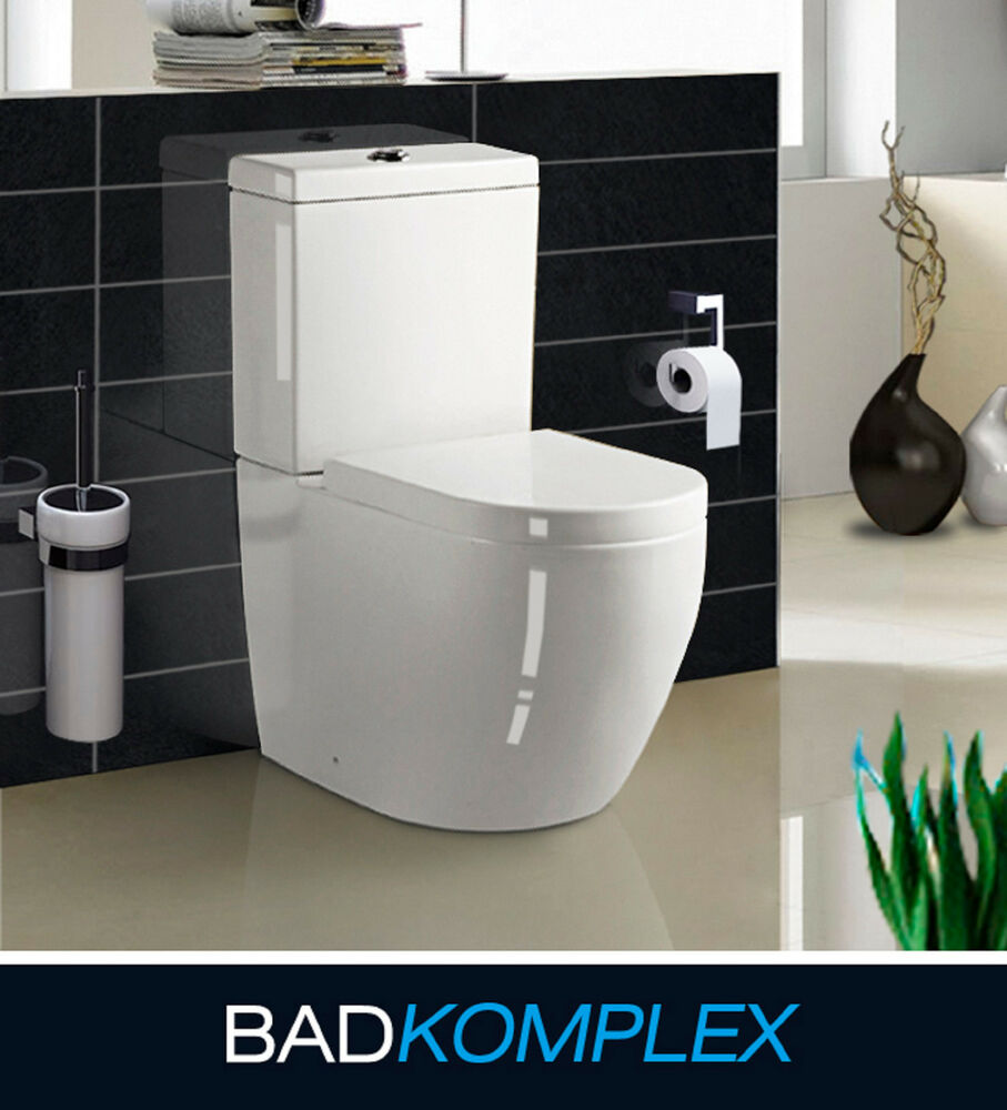 design stand wc tiefsp ler inkl softclose wc sitz komplett aus keramik s adap ebay. Black Bedroom Furniture Sets. Home Design Ideas