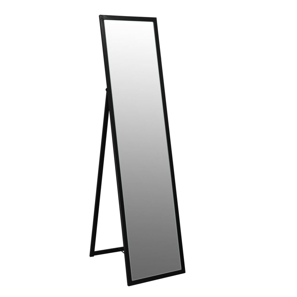 Free standing full length tilting dressing floor bedroom for Black framed floor length mirror