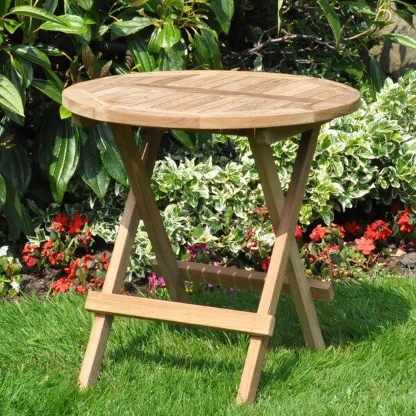 round garden teak traditional wooden wooden folding picnic drinks