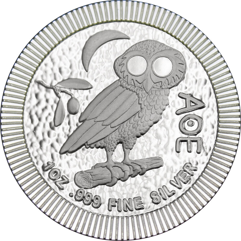 2018 Niue Silver Owl Of Athena Stackables 1oz 999 Silver