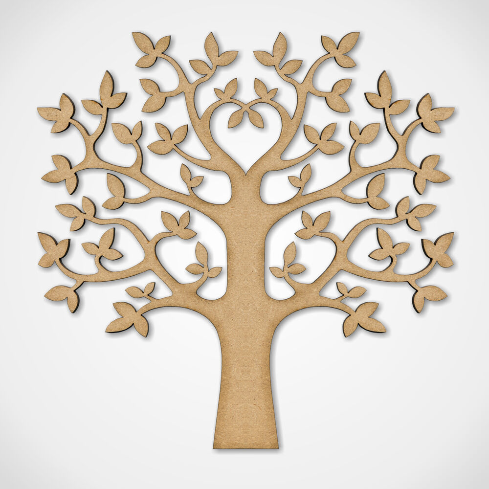 wooden craft shapes mdf tree shape wooden craft blank wedding guestbook 3257