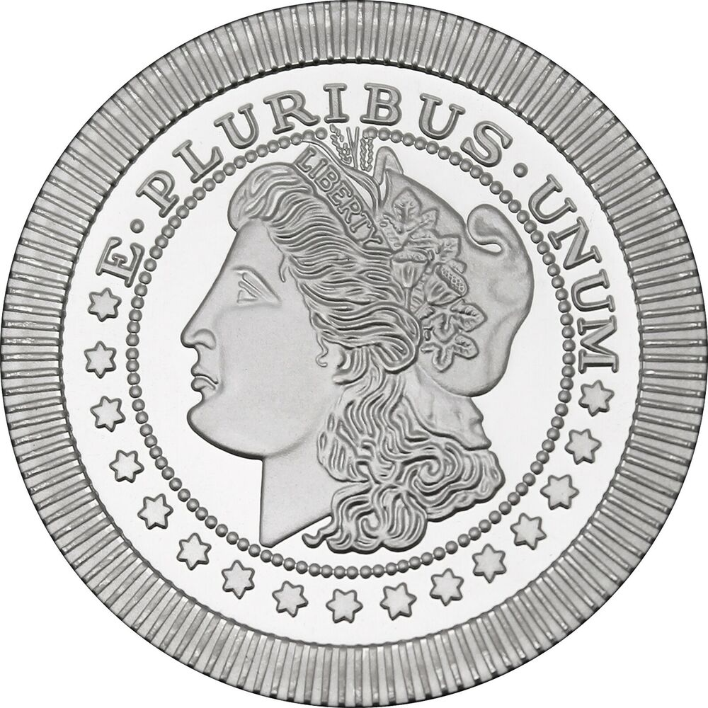 Morgan Dollar Stackables 1oz 999 Silver Medallion Ebay