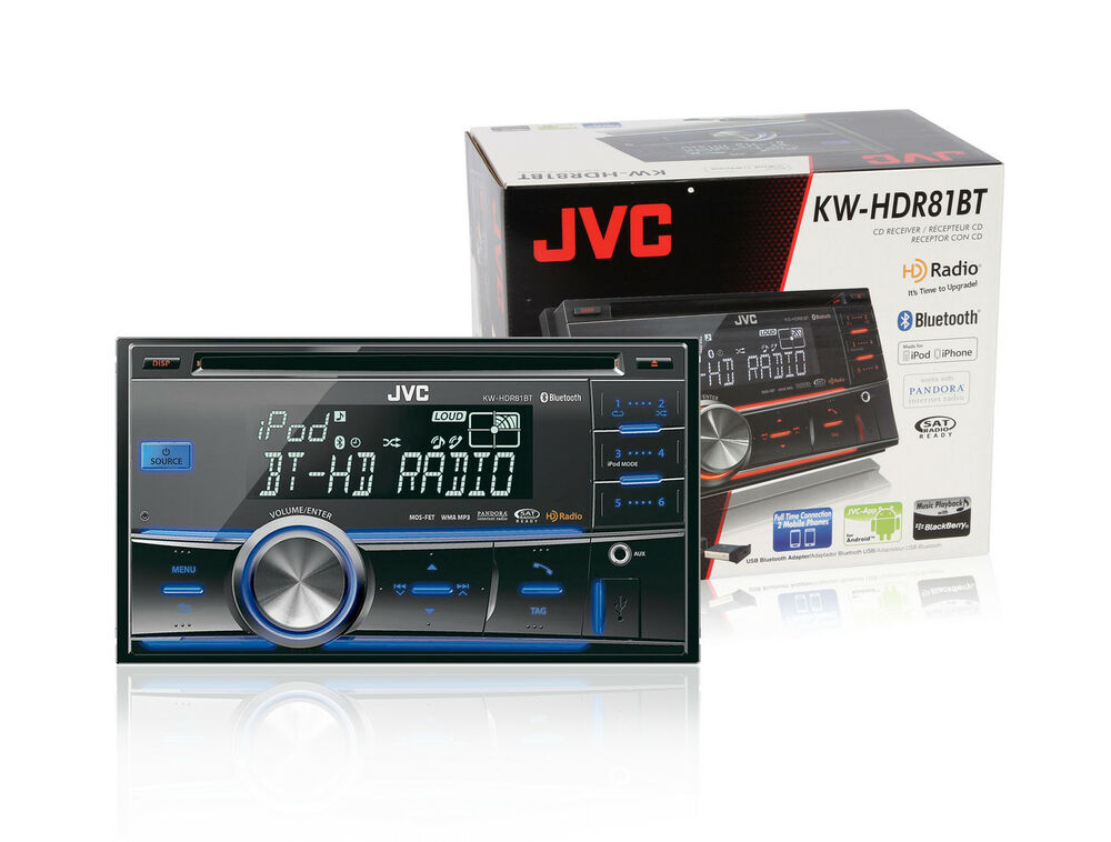 jvc kw hdr81bt cd receiver with built in bluetooth hd. Black Bedroom Furniture Sets. Home Design Ideas