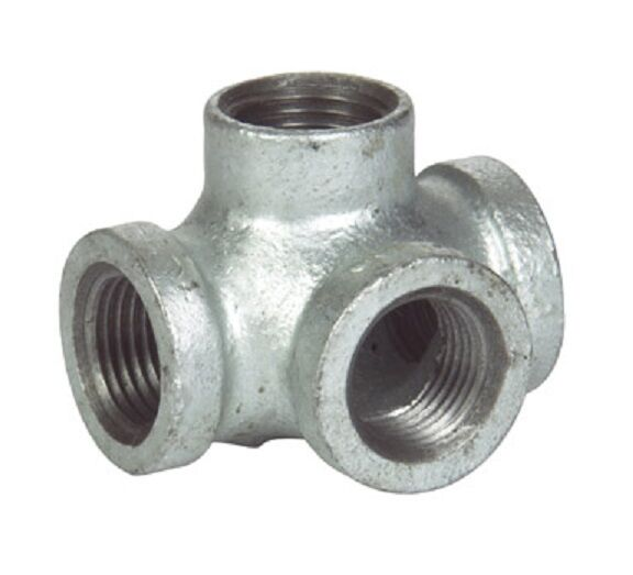 Quot side outlet tee galvanized malleable iron fitting