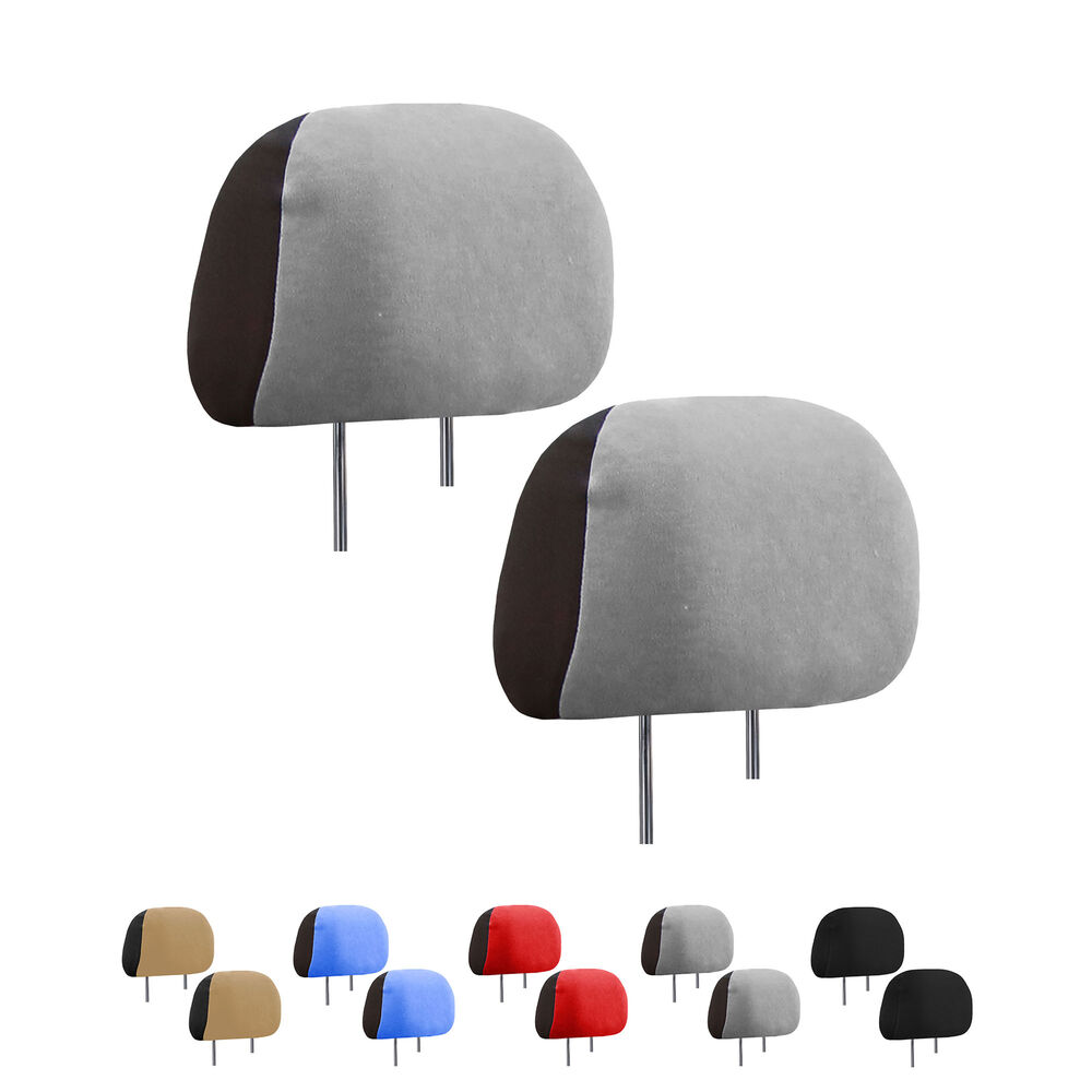 Auto Car Headrest Covers 1 Pair For Sedan Suv Van Truck 5