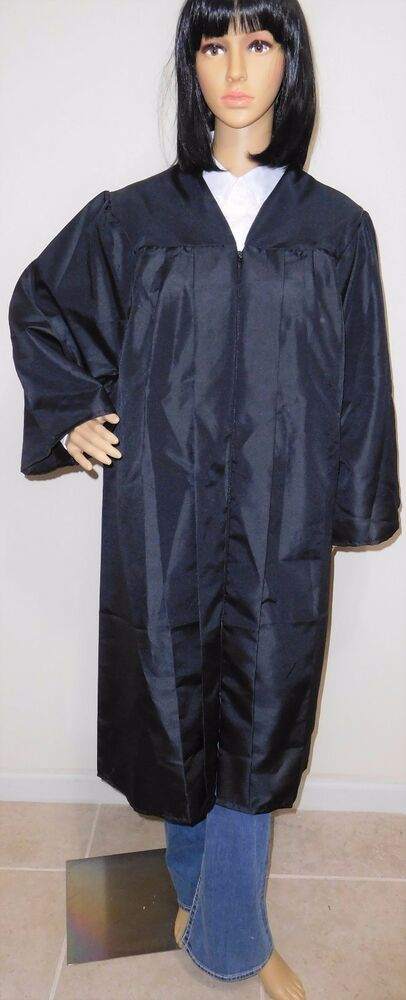 JOSTENS BLACK GRADUATION GOWN High School College Robe Front Zipper ...