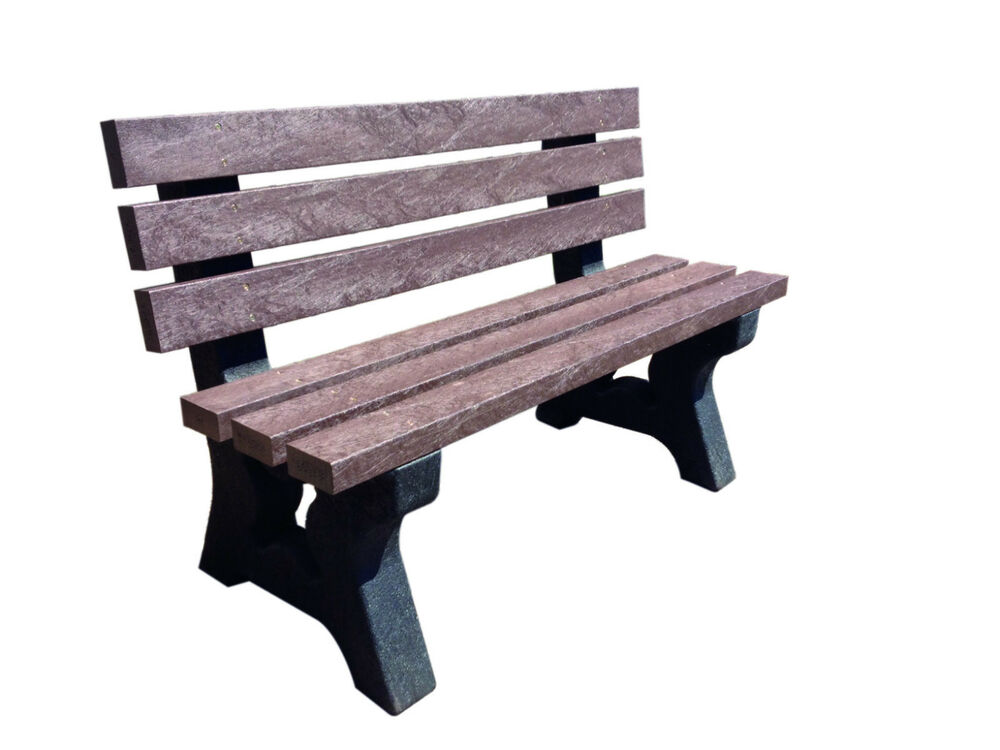 100 recycled plastic garden park seat bench outdoor 1 4m for Outdoor plastic bench seats