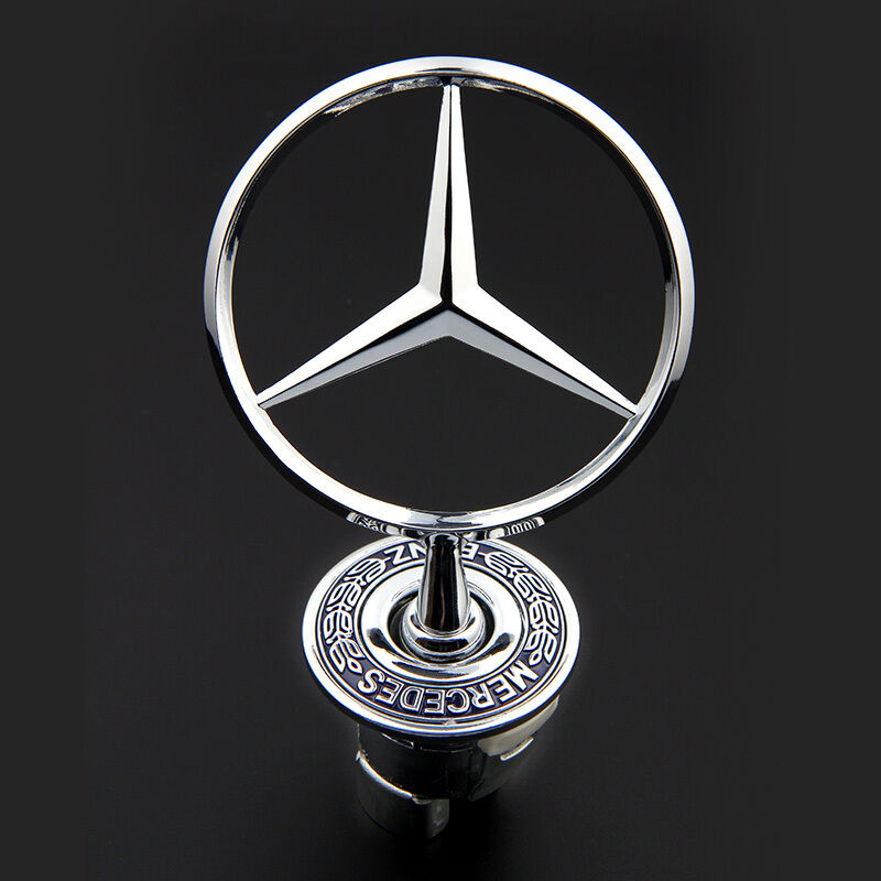3d zinc alloy car frond hood ornament emblem for mercedes for Mercedes benz bonnet badge
