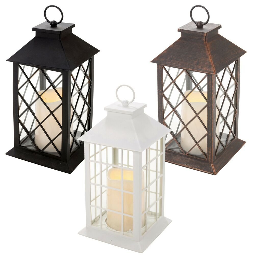 Traditional Led Candle Lantern Light Holder Indoor Outdoor
