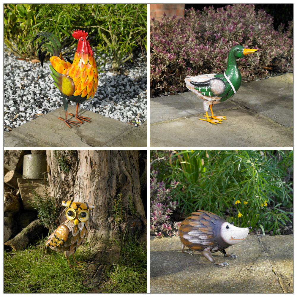 colourful outdoor garden animal statues ornament farmyard