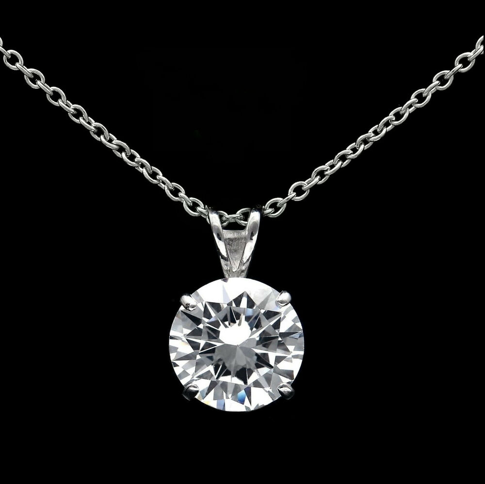 """1.00ct Created Diamond LOVE Pendant 925 Sterling Silver Cable Chain Necklace 18/"""""""