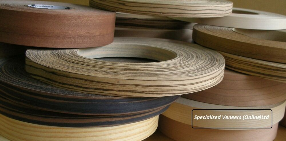 Iron On Edging Pre Glued Real Wood Veneer Banding 30mm Ebay