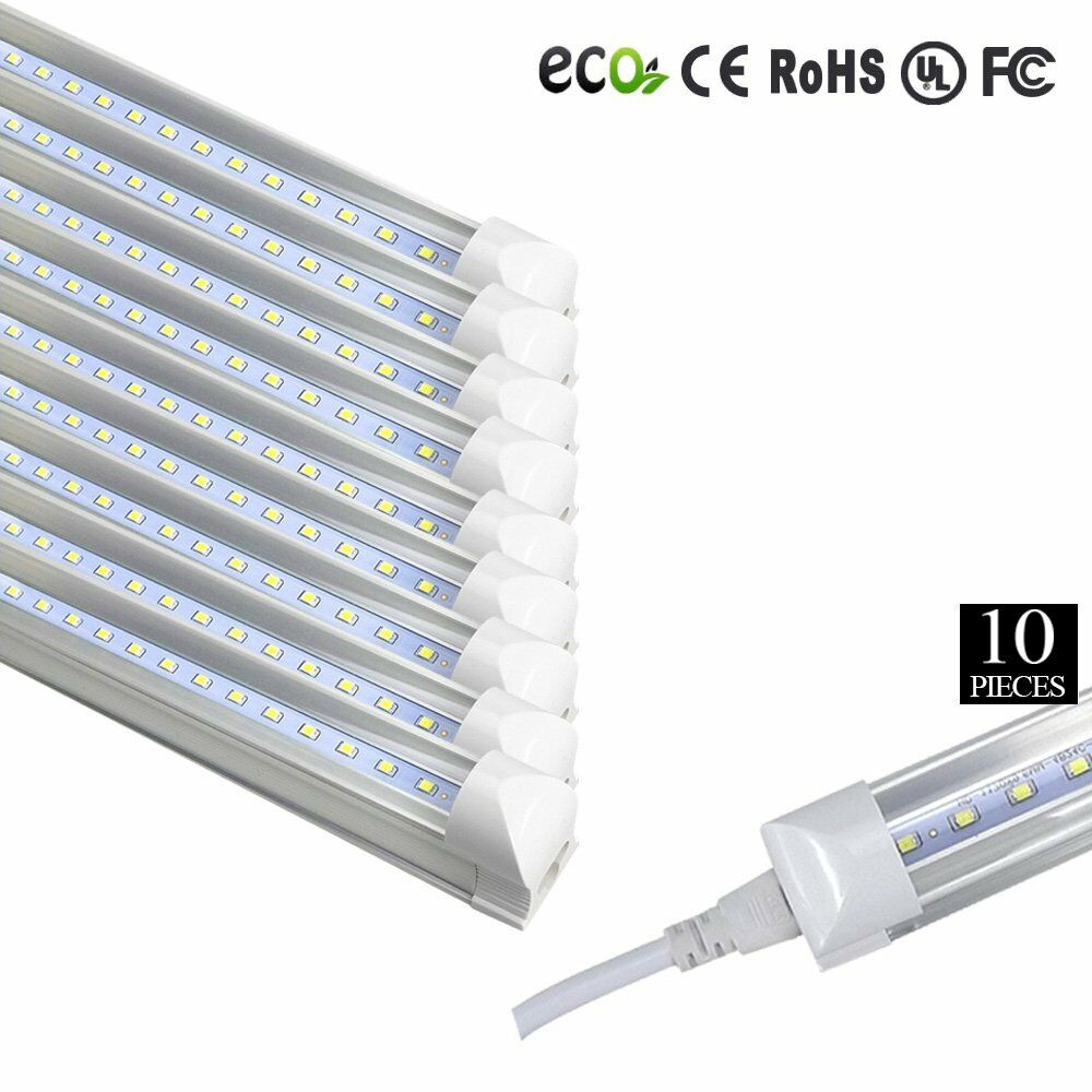 10x Led 4 Foot T8 Integrated Tube Light W Bracket 20w