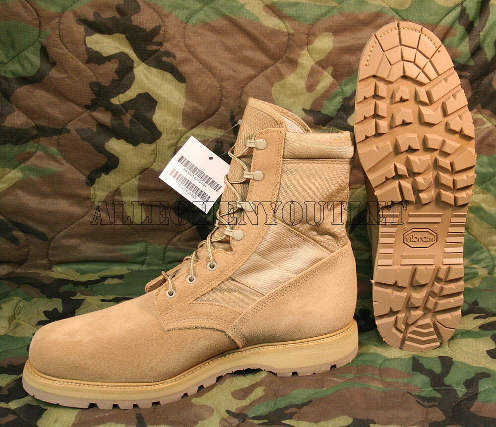 Us Military Thorogood Coolmax Tan Steel Toe Combat Boots
