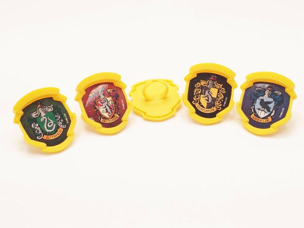 12 Harry Potter House Crest Cupcake Rings Party Favor