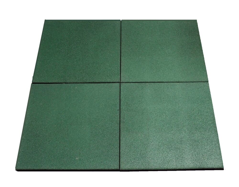 Hiks green rubber indoor outdoor safety protection matting for Outdoor safety flooring