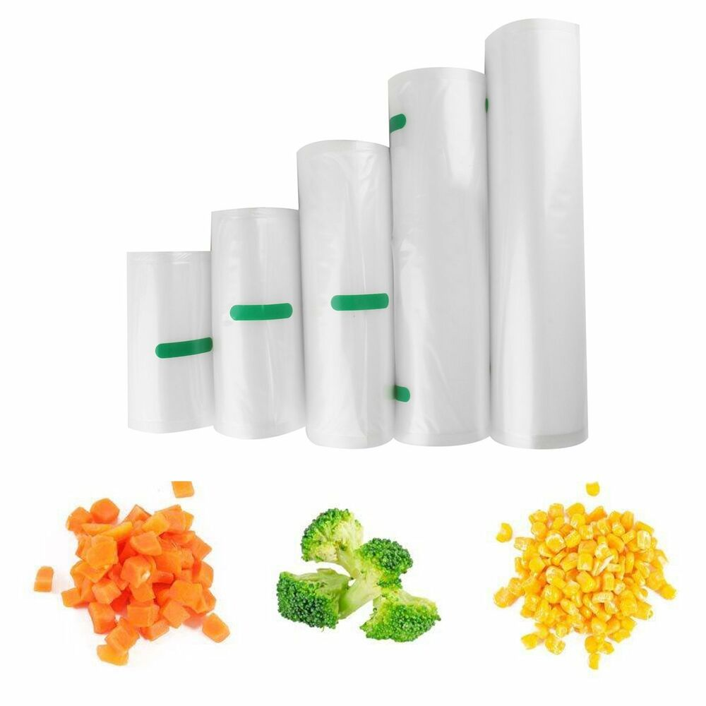 "6""x15' 8""x15' 11"" x 15' Roll Vacuum Sealer Bags Reusable"
