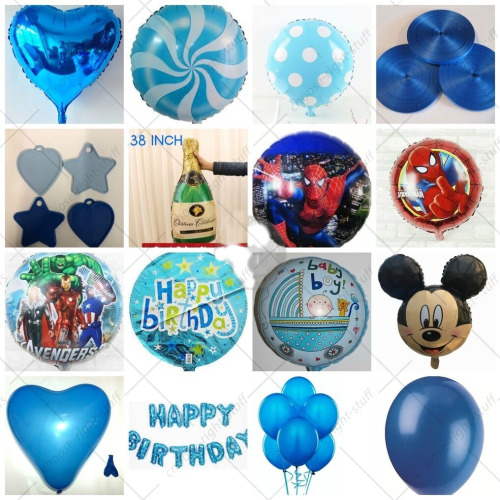 Details About New Born Baby Party Colour Foil Balloons For Boys Birthday Home Decor