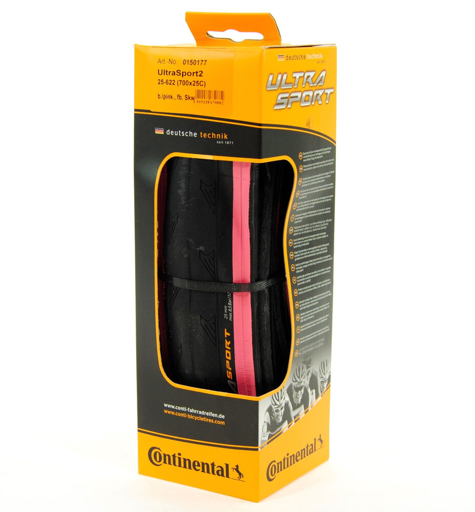 continental ultra sport 2 road bike tire pink black. Black Bedroom Furniture Sets. Home Design Ideas