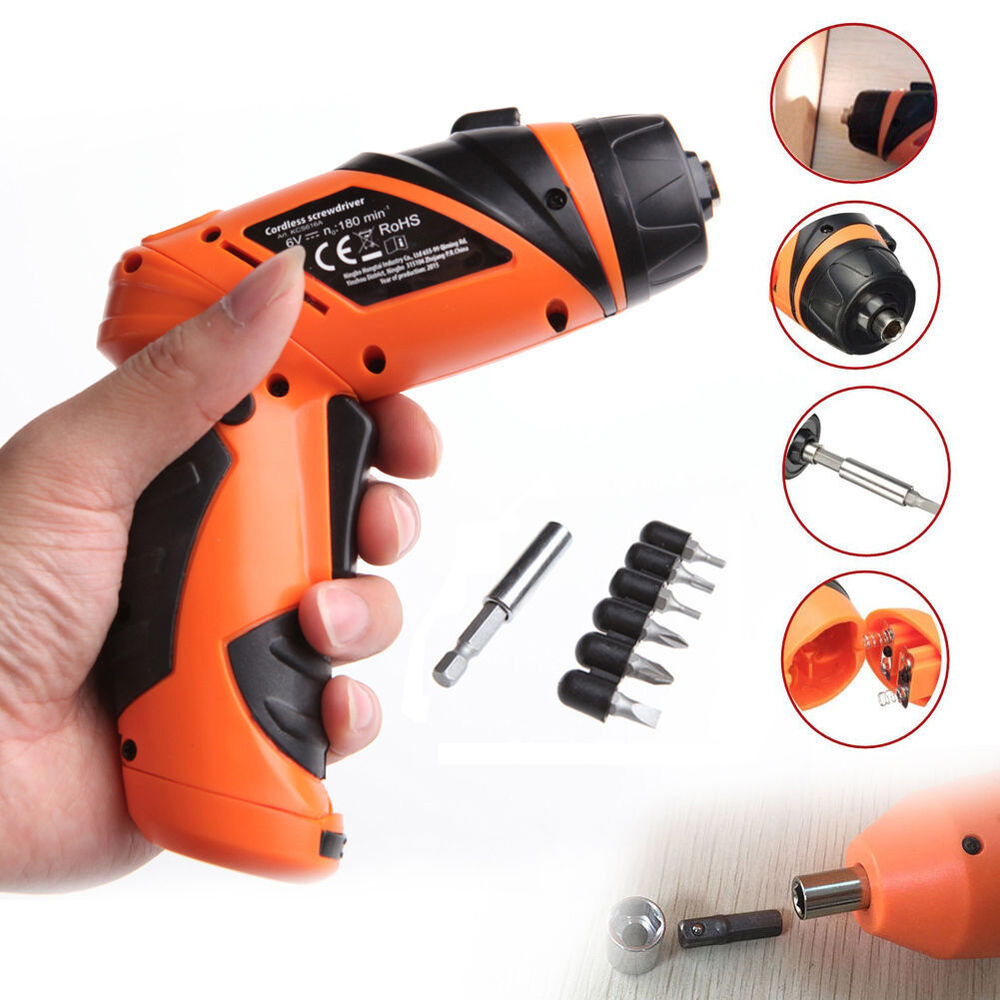 6v portable screwdriver electric drill battery operated. Black Bedroom Furniture Sets. Home Design Ideas