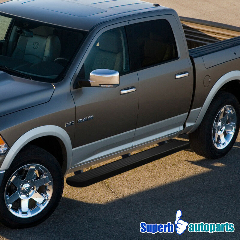 """4 Inch Running Boards Side Step For Ram 1500 2500 3500: 09-18 Dodge RAM 1500 2500 3500 5"""" Side Step Running Boards"""