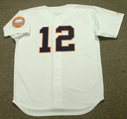 12b98be01 DOUG RADAR Houston Astros 1960 s Majestic Cooperstown Home Baseball Jersey