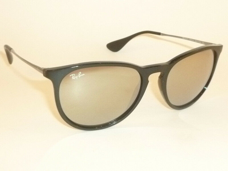 81759fd4c32 New RAY BAN Erika Sunglasses Black Frame RB 4171 601 5A Gold Mirror Lenses