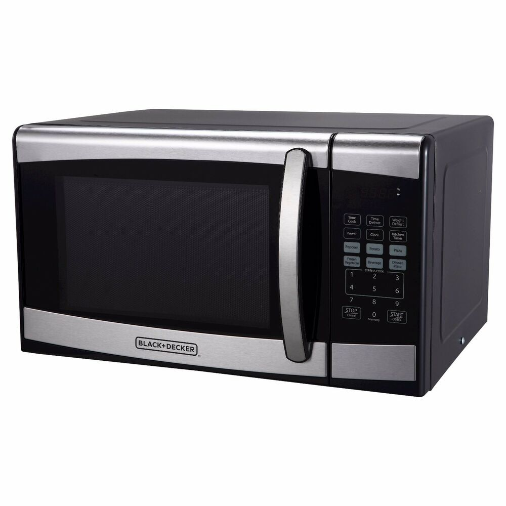 Black Amp Decker 0 9 Cu Ft 900 Watt Microwave Oven