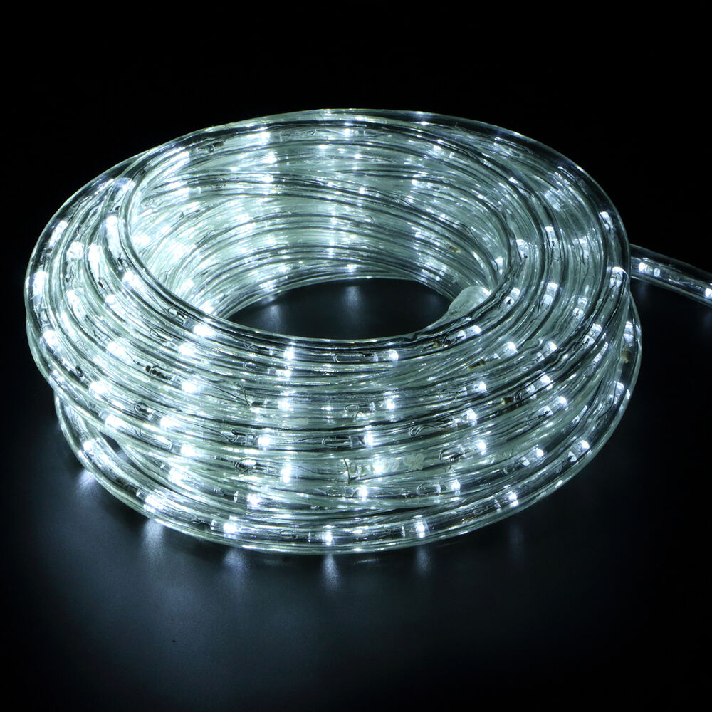 25FT 2 Wire 110V Home Dance Party Car Decor LED Rope Light In//Outdoor Cool White