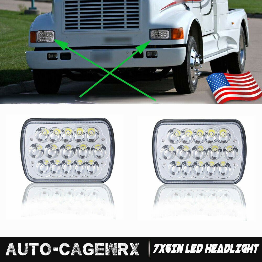 """2X LED 6"""" X 7"""" LED Headlight Replacement for Chevy ..."""