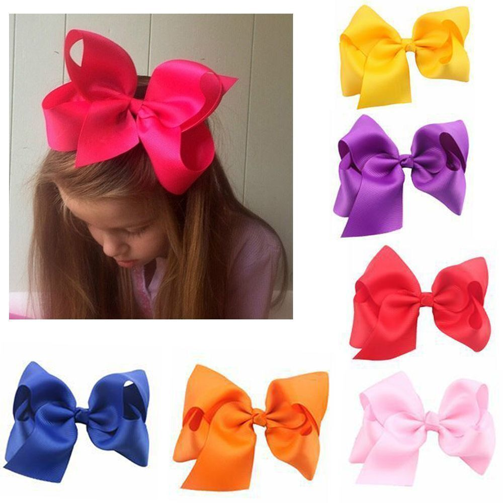 40pcs Lot Baby Girls Big Large Hair Bows Alligator Hair