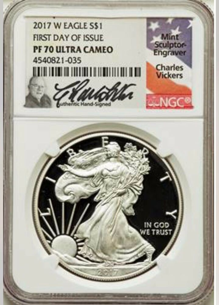 2017 W Proof Silver Eagle Ngc Pf70 First Day Of Issue