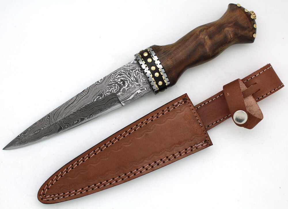 turkey handmade knife turkey handmade damascus collection dirk sgian dubh 2672