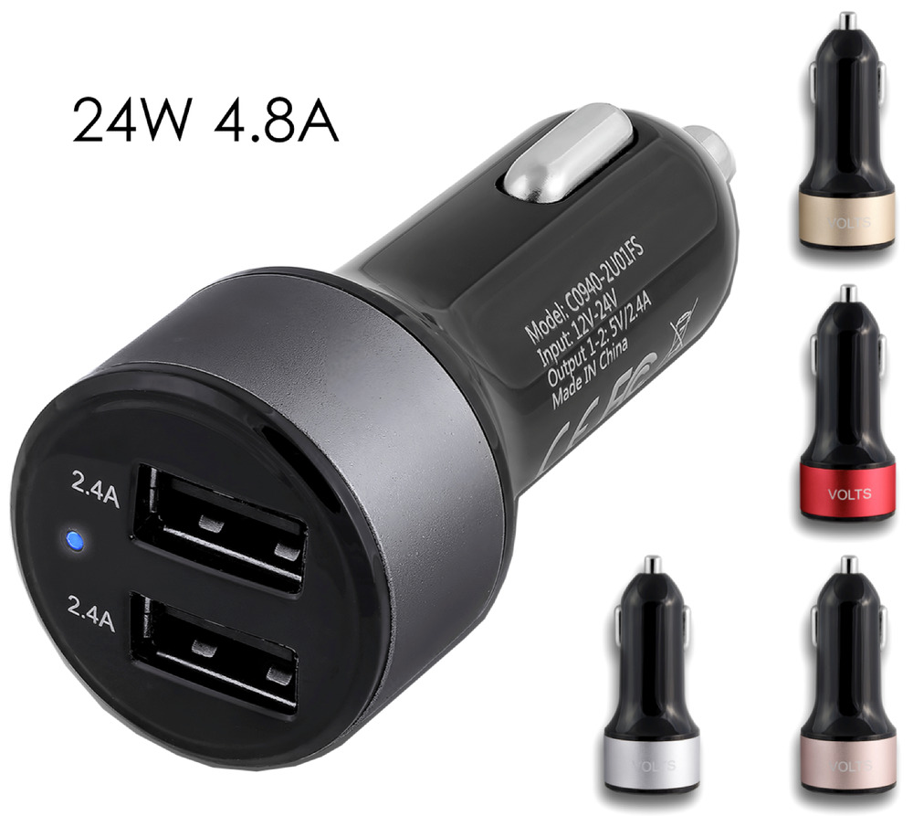 4 8amp 2 Port Dual Usb Car Charger Adapter For Iphone 5 6